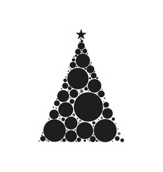 Christmas tree circle style vector