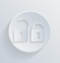 circle icon with a shadow padlock vector image