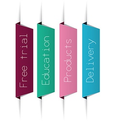 Color paper labels vector