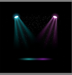 colored spotlights lights for stage lighting vector image