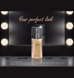 Colorstay make-up in elegant packaging on a vector