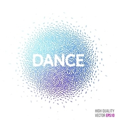 Dance beautiful design element for greeting card vector