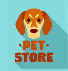 dog pet store logo flat style vector image