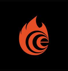 e fire logo vector image