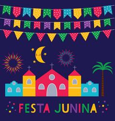 Festa junina brazil june party card vector