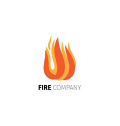 Fire flame company logo template vector