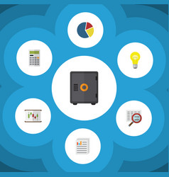 Flat icon incoming set calculate bubl vector
