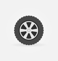 flat wheel icon - simple symbol or design vector image