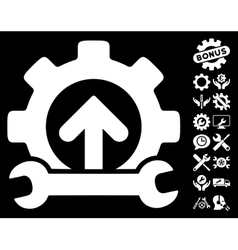 Gear Integration Tools Icon with Tools vector