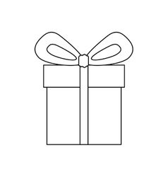 gift box icon image vector image