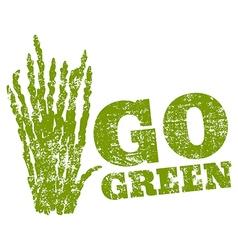 Go green asparagus vector