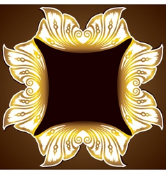 golden design classic background vector image