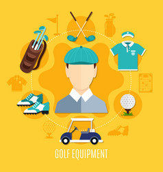 Golf equipment round composition vector