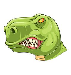 Green tyrannosaurus head mascot vector