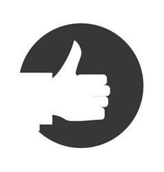 hand gesturing symbol vector image