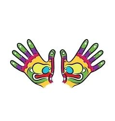 Hands sketch for your design massage reflexology vector image