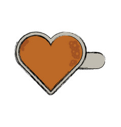 heart hairpin vector image