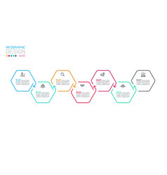 Hexagon inforgraphics on graphic art vector