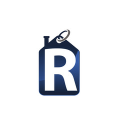 Home shopping letter r vector