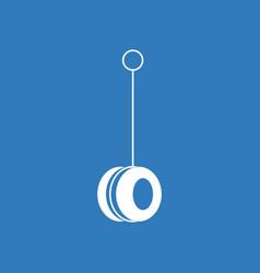 Icon on background yo yo toy vector