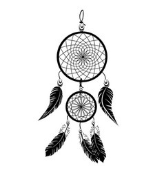 indian black dream catcher vector image