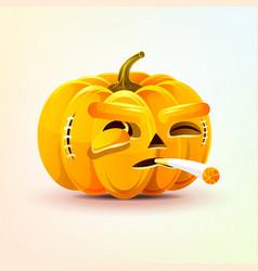 Jack-o-lantern terrible facial expression vector