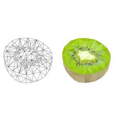 Kiwi polygonal vector