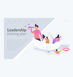 leadership landing page template vector image