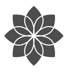 Lotus solid icon flower vector