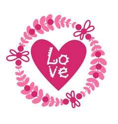 Love card design retro background with pink heart vector
