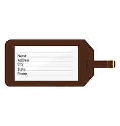 Luggage tag vector image