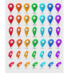 map pointer 3d pin location symbols set isolated vector image