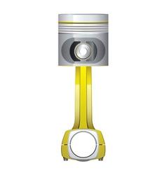 Metal piston upgrade part vector