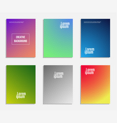 minimal cover design set of geometric pattern vector image