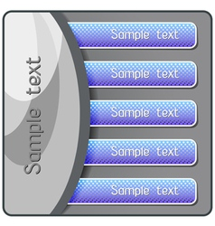 modern banner buttons vector image