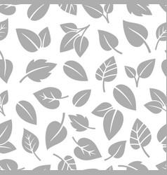 monochrom foliage pattern vector image