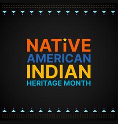 Native american heritage month - november - square vector