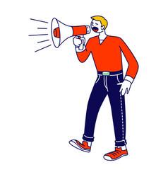 Online public relations affairs concept man vector