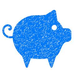 Piggy icon grunge watermark vector