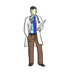 Portrait of a doctor with uniform vector