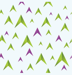 seamless pattern of color arrows vector image