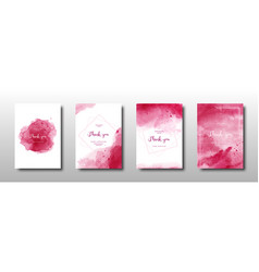 Set cherry red watercolor background vector