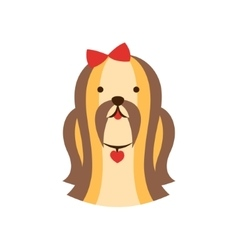 Shih-Tzu Dog Breed Primitive Cartoon vector