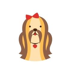 Shih-Tzu Dog Breed Primitive Cartoon vector image