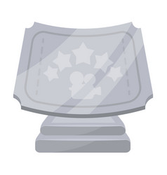 silver prize with star and camera on a stand vector image