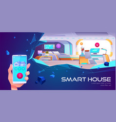 smart house and artificial intelligence technology vector image
