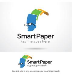 smart paper logo template vector image