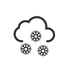 Snowflakes icon vector