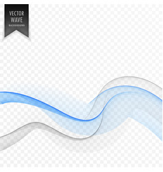 soft smooth blue and gray wave background vector image