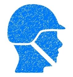 Soldier Helmet Grainy Texture Icon vector